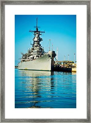 Uss Missouri, Pearl Harbor, Honolulu Framed Print by Panoramic Images