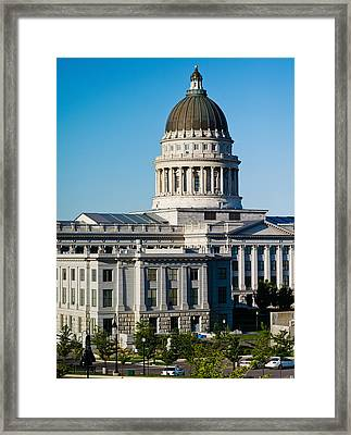 Utah State Capitol Building, Salt Lake Framed Print by Panoramic Images