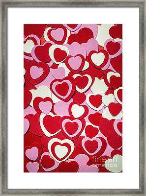 Valentines Day Hearts Framed Print by Elena Elisseeva