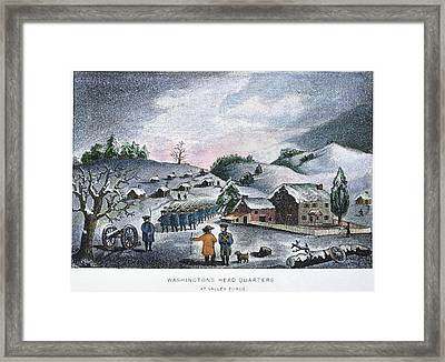 Valley Forge: Winter, 1777 Framed Print by Granger