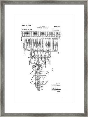 Vannevar Bush Comparator Patent Framed Print by Us National Archives