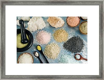 Various Types Of Salt Framed Print by Nico Tondini