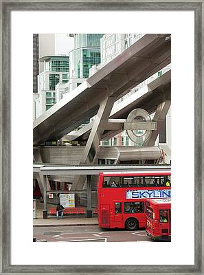 Vauxhall Bus Station Framed Print by Ashley Cooper