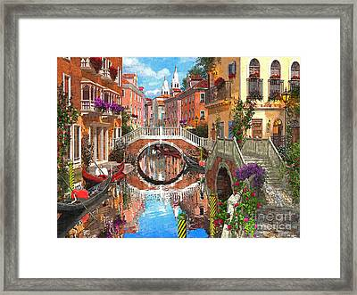 Venetian Waterway Framed Print by Dominic Davison