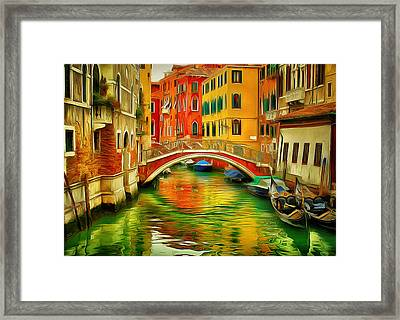 Venice Bridges 1 Framed Print by Yury Malkov