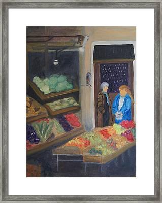 Venice Fruit Market Framed Print by Kristine Bogdanovich