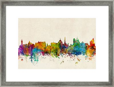 Victoria Canada Skyline Framed Print by Michael Tompsett
