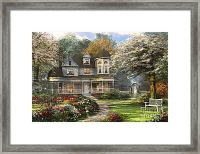 Victorian Home Framed Print by Dominic Davison
