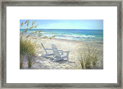 View For Two Framed Print by Laurie Hein