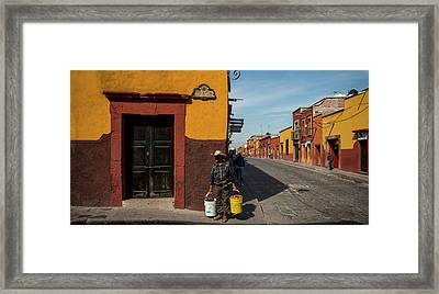 View Of Houses Along A Street, San Framed Print by Panoramic Images
