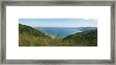 View Of Laguna De Apoyo Framed Print by Panoramic Images