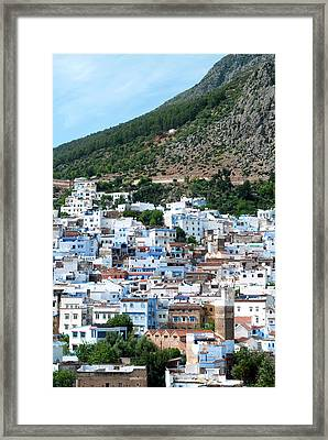 View Of The City, Chefchaouen (chaouen Framed Print by Nico Tondini
