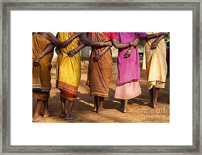 Village Dance In Orissa Framed Print by Robert Preston