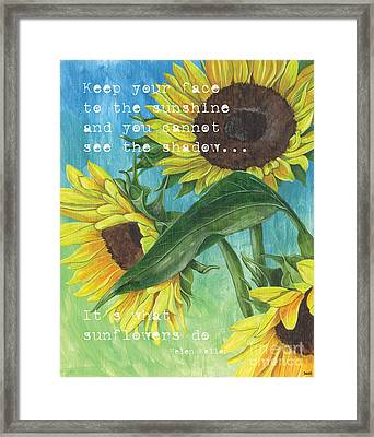 Vince's Sunflowers 1 Framed Print by Debbie DeWitt