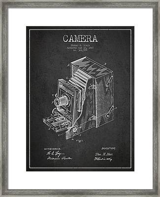 Vintage Camera Patent Drawing From 1887 Framed Print by Aged Pixel