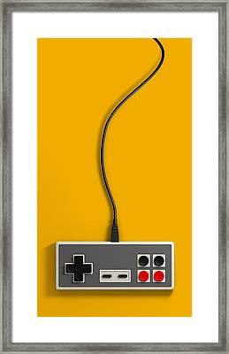 Vintage Gaming Framed Print by Allan Swart