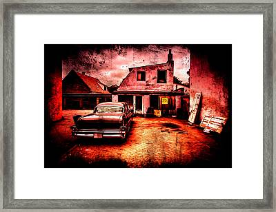 Vintage Grunge Background Framed Print by Kasper Nymann