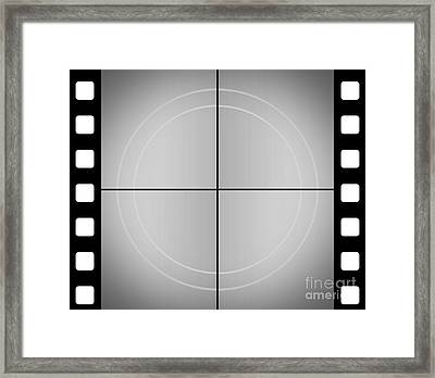 Vintage Movie Frame With Film Strip Background Framed Print by Jorgo Photography - Wall Art Gallery