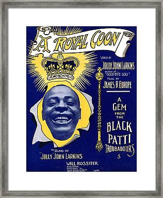 Vintage Sheet Music Cover Framed Print by Studio Artist