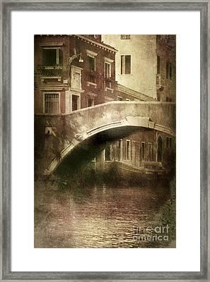 Vintage Shot Of Venetian Canal, Venice Framed Print by Evgeny Kuklev