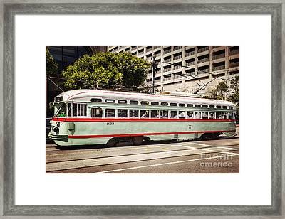 Vintage Streetcar San Francisco Framed Print by Colin and Linda McKie