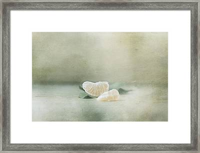 Vintage Tangerine Framed Print by Delphine Devos