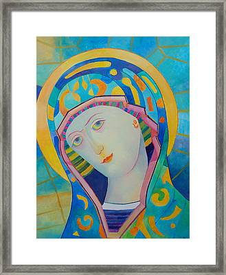 Virgin Mary Immaculate Conception. Religious Painting. Modern Catholic Icon Framed Print by Magdalena Walulik