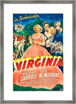 Virginia, Us Poster,  Madeleine Carroll Framed Print by Everett