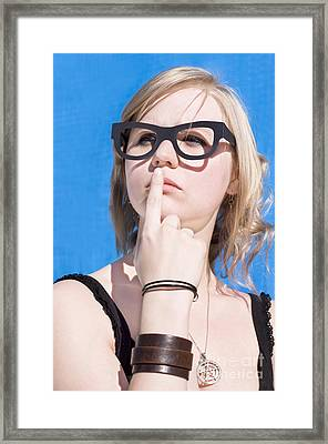 Visionary Woman Framed Print by Jorgo Photography - Wall Art Gallery