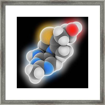 Vitamin B1 Thiamine Molecule Framed Print by Laguna Design