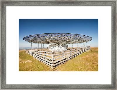 Vor Navigation Beacon Framed Print by Ashley Cooper