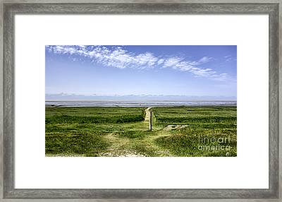 Wadden Sea From The Island Mando Denmark Framed Print by Frank Bach
