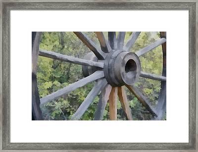 Wagon Wheel Framed Print by Ernie Echols