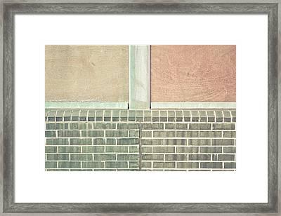 Wall Background Framed Print by Tom Gowanlock