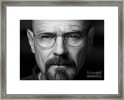Walter White - Color Framed Print by Paul Tagliamonte