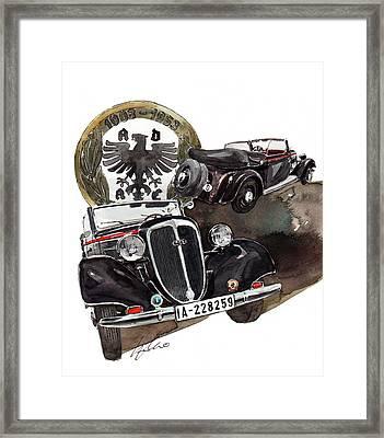 Wanderer W40 Cabrio Framed Print by Yoshiharu Miyakawa