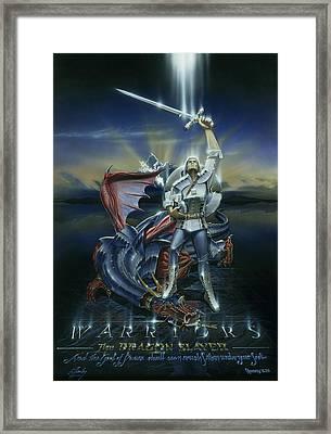 Warriors Dragon Slayer Framed Print by Cliff Hawley