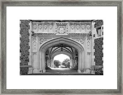 Washington University Brookings Hall Framed Print by University Icons