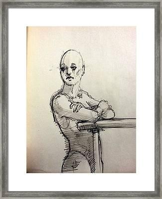 Watching Her Framed Print by H James Hoff