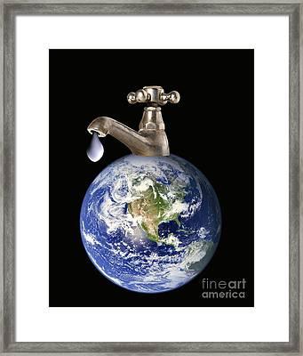 Water Conservation, Conceptual Image Framed Print by Victor de Schwanberg