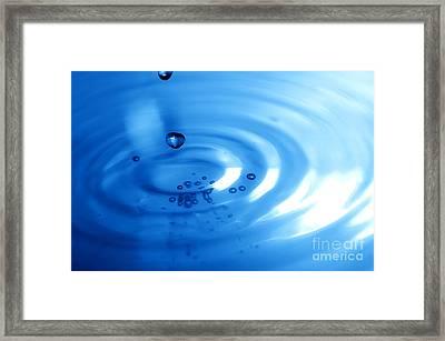 Water Drops Framed Print by Michal Bednarek