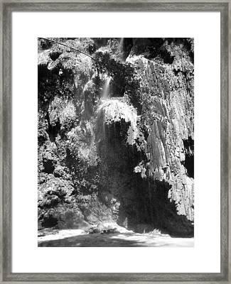 Water Falls Framed Print by Duane Blubaugh
