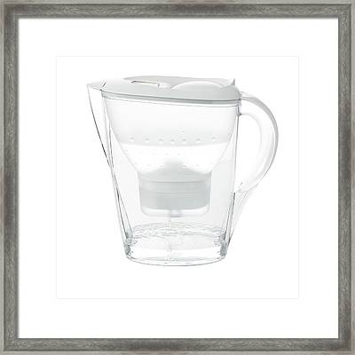 Water Filter Jug Framed Print by Science Photo Library