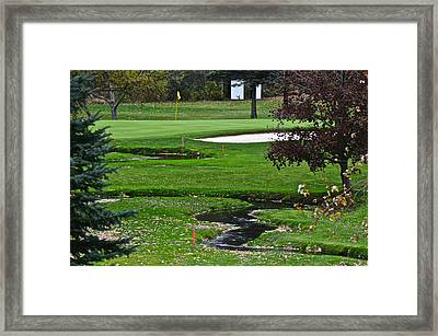 Water Hazard Framed Print by Frozen in Time Fine Art Photography