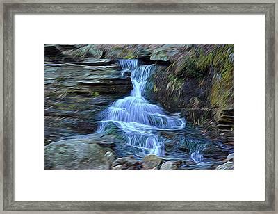 Water In Flow Motion Framed Print by Douglas Miller