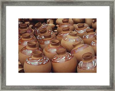 Water Pots Framed Print by Sue Sill