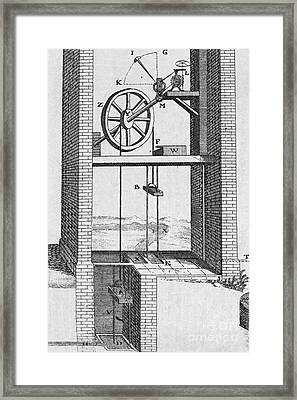 Water Raising Engine, 18th Century Framed Print by Middle Temple Library