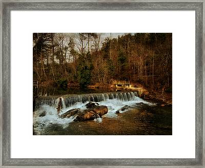 Waterfall Framed Print by Mario Celzner