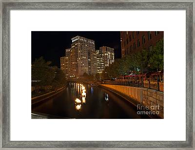 Waterfire.  Providence Rhode Island Framed Print by Juli Scalzi