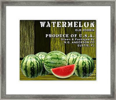 Watermelon Farm Framed Print by Marvin Blaine